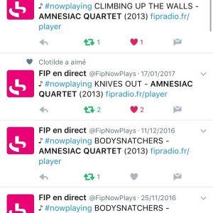 FIP alors ! broadcast radio radiohead jazz rock music amnesiacquartet