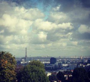 paris love music jazz photographer cloudy city skyline