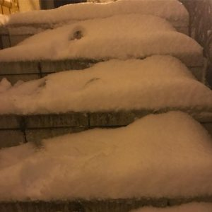 Step by step ! snowstorm paris france snow stairs music