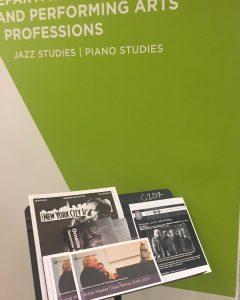 In last july at NYU Jazz Steinhardt nyu newyork professorhellip